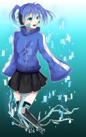 Drawing of Ene by Partaytoes