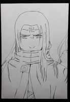 Strong Will: Neji - Lineart by HimeWhiteEye