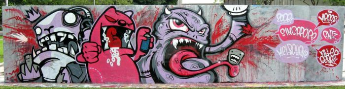 ANGRY PINK MONSTERS by antz81