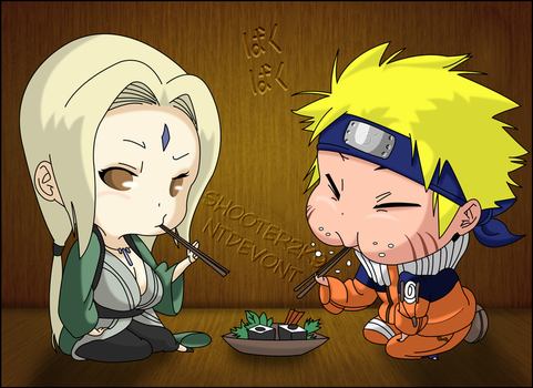 Naruto and Tsunade by Shooter2K9