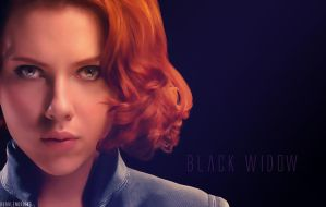 Black Widow Wallpaper by bubblenubbins