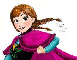 Princess Anna Of Arendelle by wolfskyla