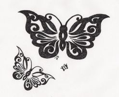 Butterflies-Tattoo by great-queen-morrigan