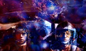 Anakin and Luke by sideache