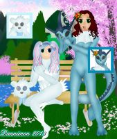 Veronica and Miki Pokemon Suits by DannimonDesigns