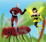 Antman and Wasp by bocodamondo
