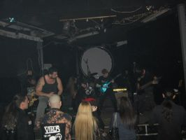 Mesmera at the gig in Kocka by crowhitewolf