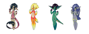Anthro Adopts Open 3/4 left by Uprising-Adopts