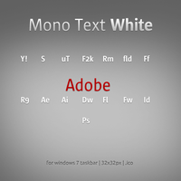 Mono Text White. by hoss007