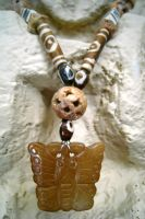 Butterfly Necklace FOR SALE by ThreeRingCinema