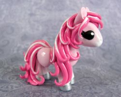 Stripey Pink Pony by DragonsAndBeasties