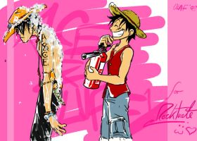 Trade for Roctuete- Ace+Luffy by olafpriol