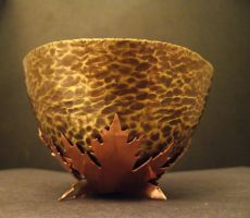 Hand raised Brass bowl. by LoveIsMyHate