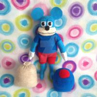 Blue Toontown Mouse Plushie w/ Gags (Custom Order) by MadameWario