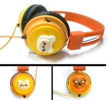 Adventure time headphones - polymer clay by TenereDelizie