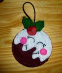 Cute Felt Christmas Pudding by SazLeigh