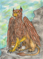 Mountain Griffin by SilverRacoon