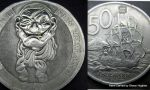 New Zealand 50 Cent Pirate Coin Carving by Shaun H by shaun750