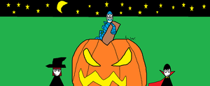 happy halloween from Lenny and the Autis-squad by LRW0077