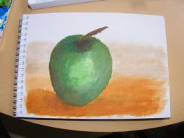 Acrylic Apple Painting by rev-Jesse-C