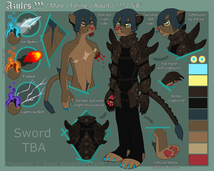 Anthro!Azules reference sheet OCTOBER 2015 by Ziboe