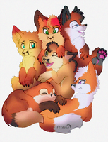 More foxes! by Fteroda