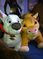 Simba and Bolt by lovergirl786