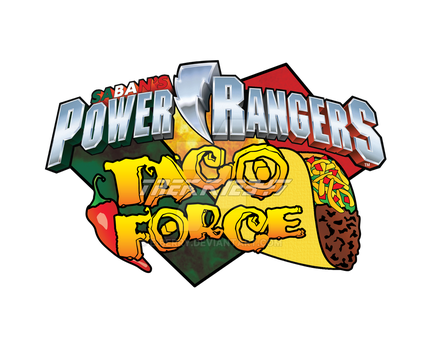 Power Rangers Taco Force Logo by e-Berry