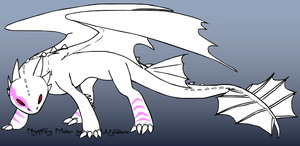 The albino dragon by RaindropLily
