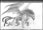 Weekly Drawing- Manticore by Scruta