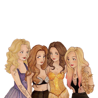 dibujo png de Miley Demi Taylor y Selena by GaabiiEditions