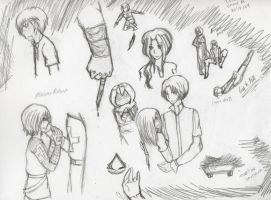 Assassin's Creed doodles by darkanimegirl11