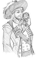 Barbossa and Jack by Kayzig
