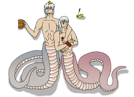 Prussia Nagas by HybridPersonality