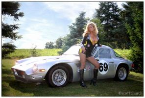 Jenna and the TVR by scottchurch