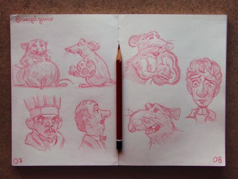 Animation Sketches - Ratatouille by AngelGanev