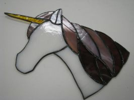 Stained Glass Unicorn by RiverBloodmoon