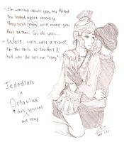 """""""Jed's consolation"""" Jed x Oct by MADAOSUE"""