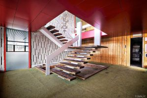 Office stairs by ZerberuZ