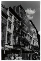 Soho Building Fire by fatalicon