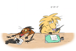 Dag and Norb and inkpens by tymime