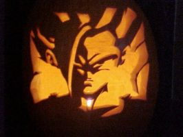 Gohan pumpkin carving by Rider4Z