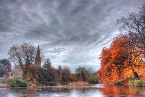 Morpeth River In Autumn by dylanridley