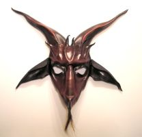 Leather Baphomet Mask oxblood by teonova