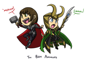 Commission: Box Avengers by forte-girl7