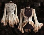 Ivory lace blouse, somnia romantica by M. Turin by SomniaRomantica