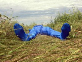 Canada Day 3 in Blue Zentai 13 by sicklilmonky