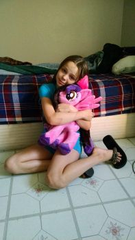 mlp plush commission dancing angel forever home by CINNAMON-STITCH