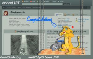 Toekneebob's 4000 Pageviews by LeoRa