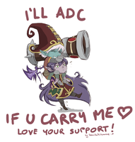 LOVE your SUPPORT! Lulu/Tristana by Sanshikisumire